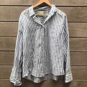 Airy Blue & White Striped Shirt